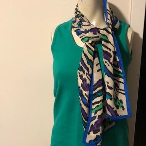 ALBERT NIPON Silk Multi color 1/2 Scarf